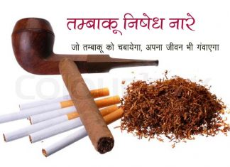 Best Anti tobacco slogan on tobacco in hindi